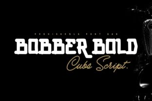 Print on Demand: Bobber Bold & Cubs Script Display Font By inumocca_type 1
