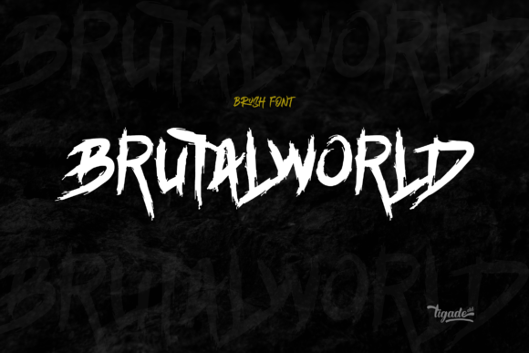 Print on Demand: Brutalworld Display Font By Tigade std