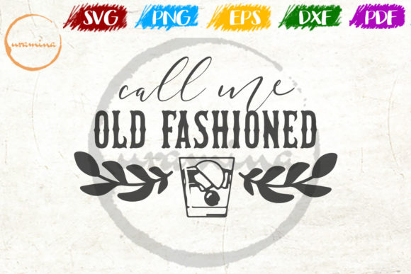 Download Free Call Me Old Fashioned Graphic By Uramina Creative Fabrica for Cricut Explore, Silhouette and other cutting machines.