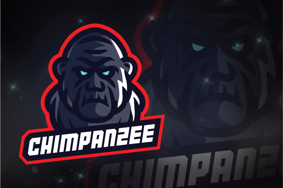 Download Free Chimpanzee E Sport Logo Graphic By Remarena Creative Fabrica for Cricut Explore, Silhouette and other cutting machines.