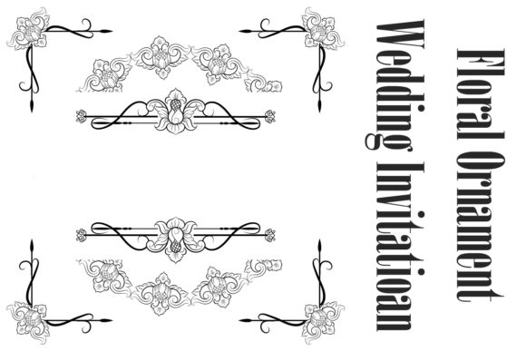 Download Free Classic Vitage Wedding Vector Ornaments Graphic By Anomali Bisu for Cricut Explore, Silhouette and other cutting machines.