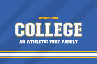 Print on Demand: College Display Font By Salt and Pepper Fonts 1