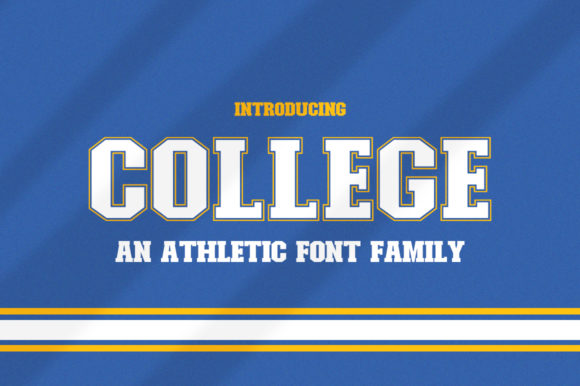Print on Demand: College Display Font By Salt & Pepper Designs