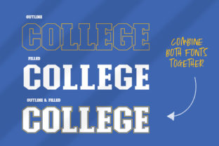Print on Demand: College Display Font By Salt and Pepper Fonts 3
