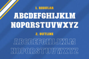 Print on Demand: College Display Font By Salt and Pepper Fonts 6