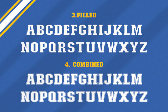 College Font Design Item