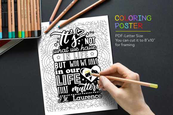 Coloring Anti-Stress Poster Graphic Coloring Pages & Books Adults By danieladoychinovashop