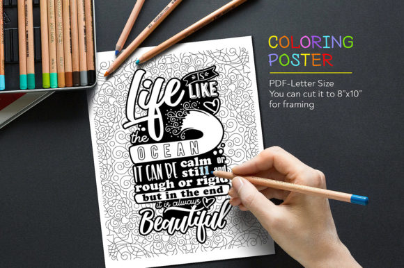 Coloring Page Graphic Coloring Pages & Books Adults By danieladoychinovashop