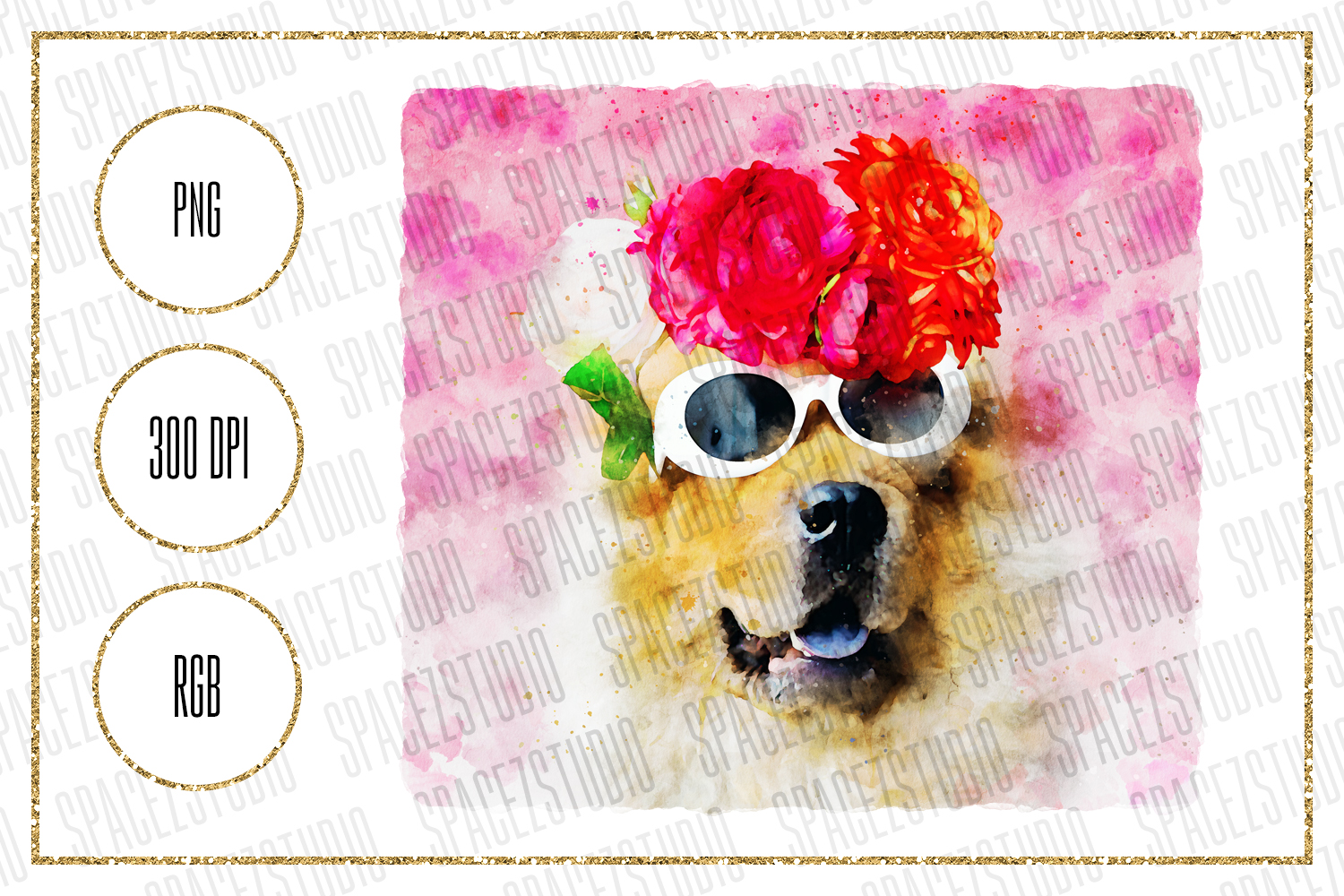 Download Free Cool Dog With Glasses Sublimation Design Graphic By Sabina Leja for Cricut Explore, Silhouette and other cutting machines.