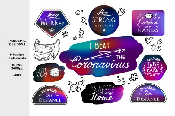 Download Free Coronavirus Designs 1 Graphic By Ramandu Creative Fabrica for Cricut Explore, Silhouette and other cutting machines.