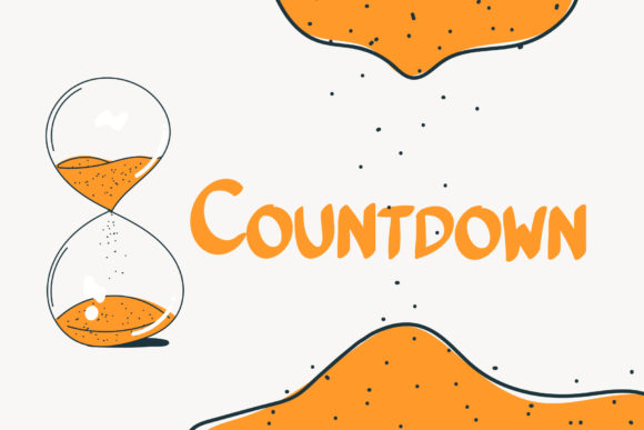 Download Free Countdown Font By Wanida Toffy Creative Fabrica for Cricut Explore, Silhouette and other cutting machines.