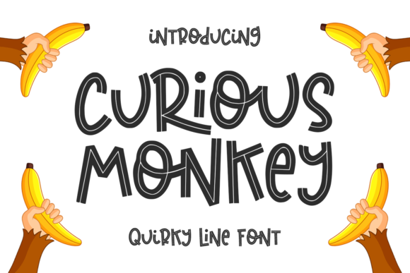 Print on Demand: Curious Monkey Display Font By Abodaniel