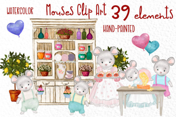 Cute Mouses Clipart Graphic Illustrations By vivastarkids