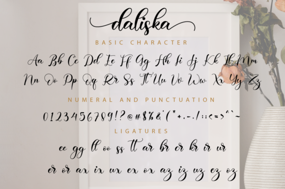 Print on Demand: Daliska Script & Handwritten Font By NissaStudio - Image 11