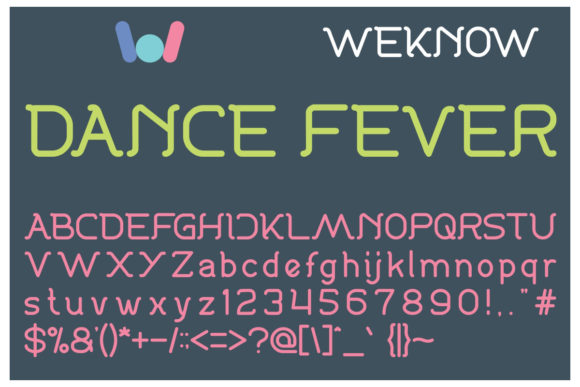 Print on Demand: Dance Fever Display Font By weknow