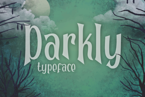 Print on Demand: Darkly Display Font By Dani (7NTypes)