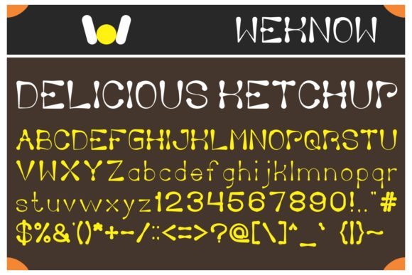 Print on Demand: Delicious Ketchup Display Font By weknow