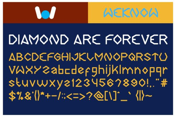 Print on Demand: Diamond Are Forever Display Font By weknow