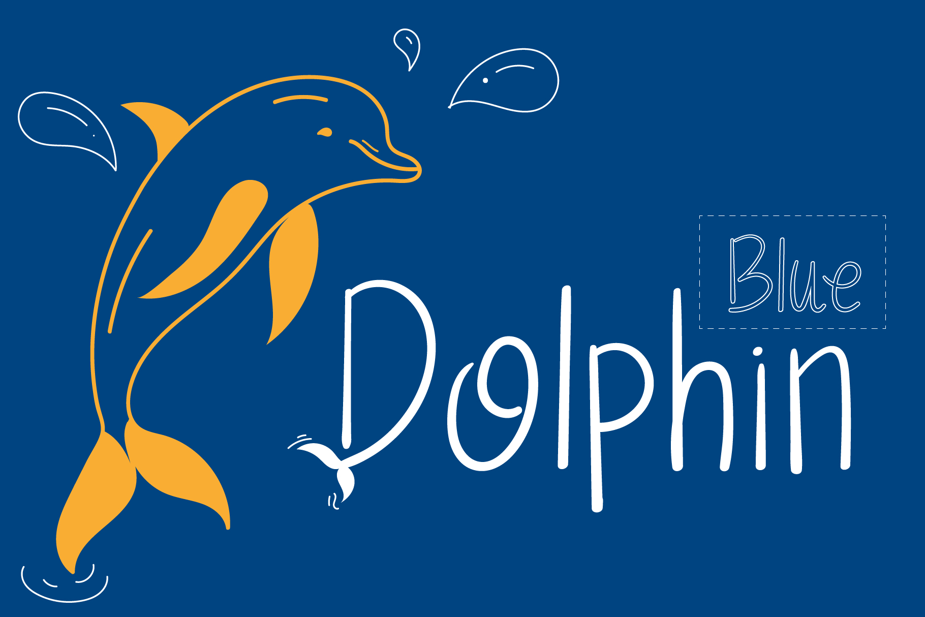 Download Free Dolphin Font By Wanida Toffy Creative Fabrica for Cricut Explore, Silhouette and other cutting machines.