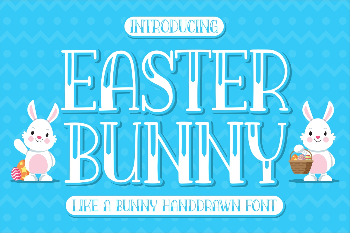 Download Free Easter Bunny Font By Goodjavastudio Creative Fabrica for Cricut Explore, Silhouette and other cutting machines.