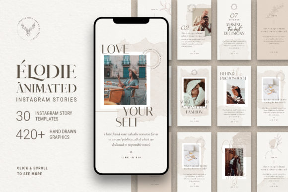 Print on Demand: Elodie - Animated Instagram Stories Graphic Websites By SilverStag