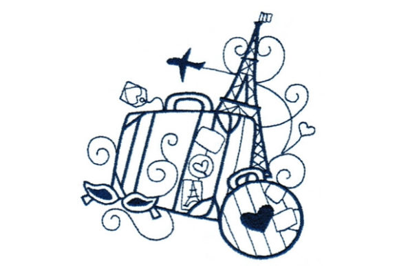 Enchanted Paris Europe Embroidery Design By Sue O'Very Designs