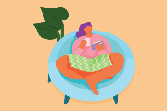 Download Free Flat Illustration Stay At Home Graphic By Midnightdiscoclub Creative Fabrica for Cricut Explore, Silhouette and other cutting machines.