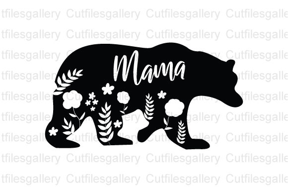 Floral Mama Bear Graphic Crafts By cutfilesgallery
