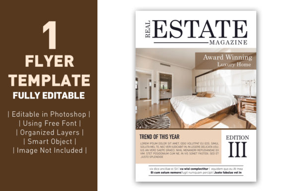 Flyer Real Estate Magazine Template Grafik Web Templates von ant project template