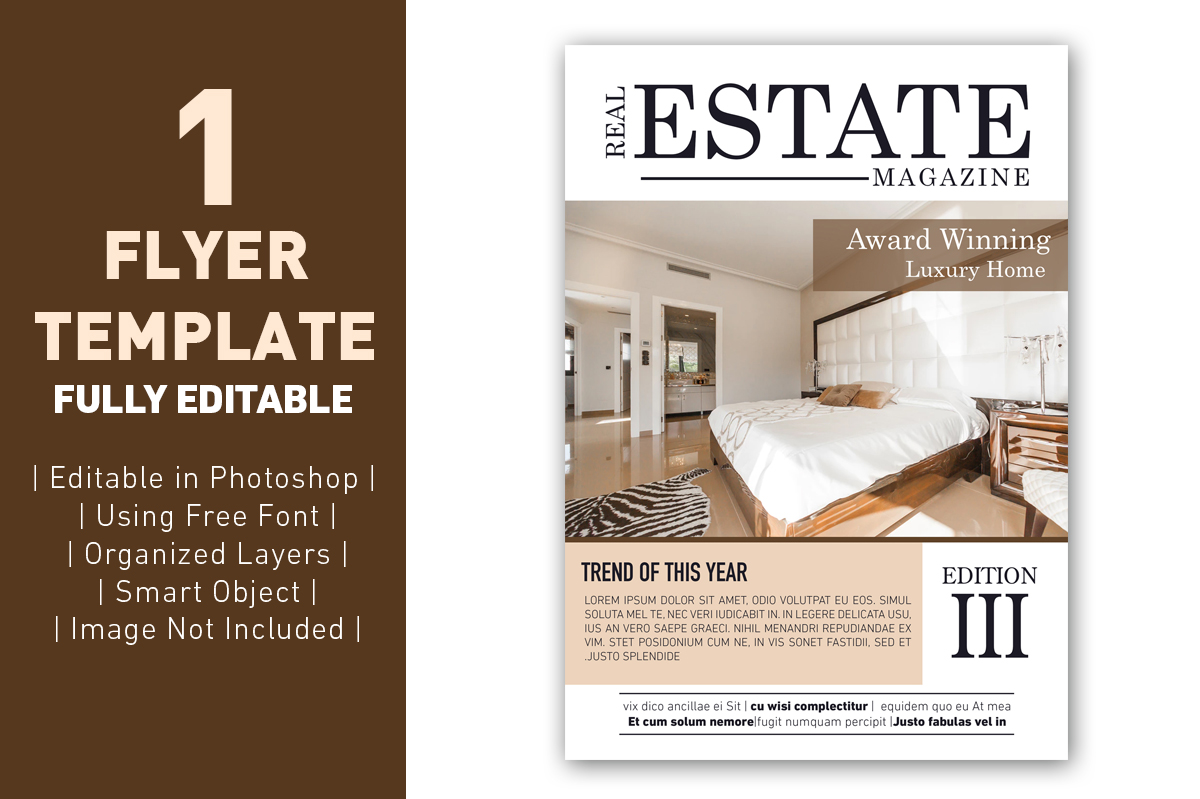 Download Free Flyer Real Estate Magazine Template Graphic By Ant Project for Cricut Explore, Silhouette and other cutting machines.
