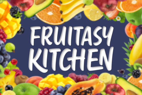 Print on Demand: Fruitasy Kitchen Manuscrita Fuente Por Situjuh