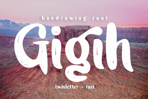 Download Free Gigih Font By Twinletter Creative Fabrica for Cricut Explore, Silhouette and other cutting machines.