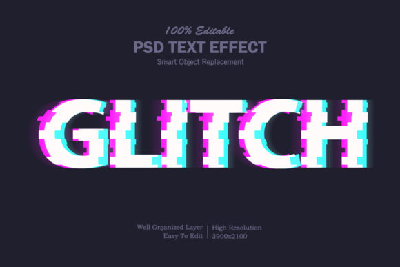 Download Free Glitch Text Effect Grafico Por Goldani412 Creative Fabrica for Cricut Explore, Silhouette and other cutting machines.