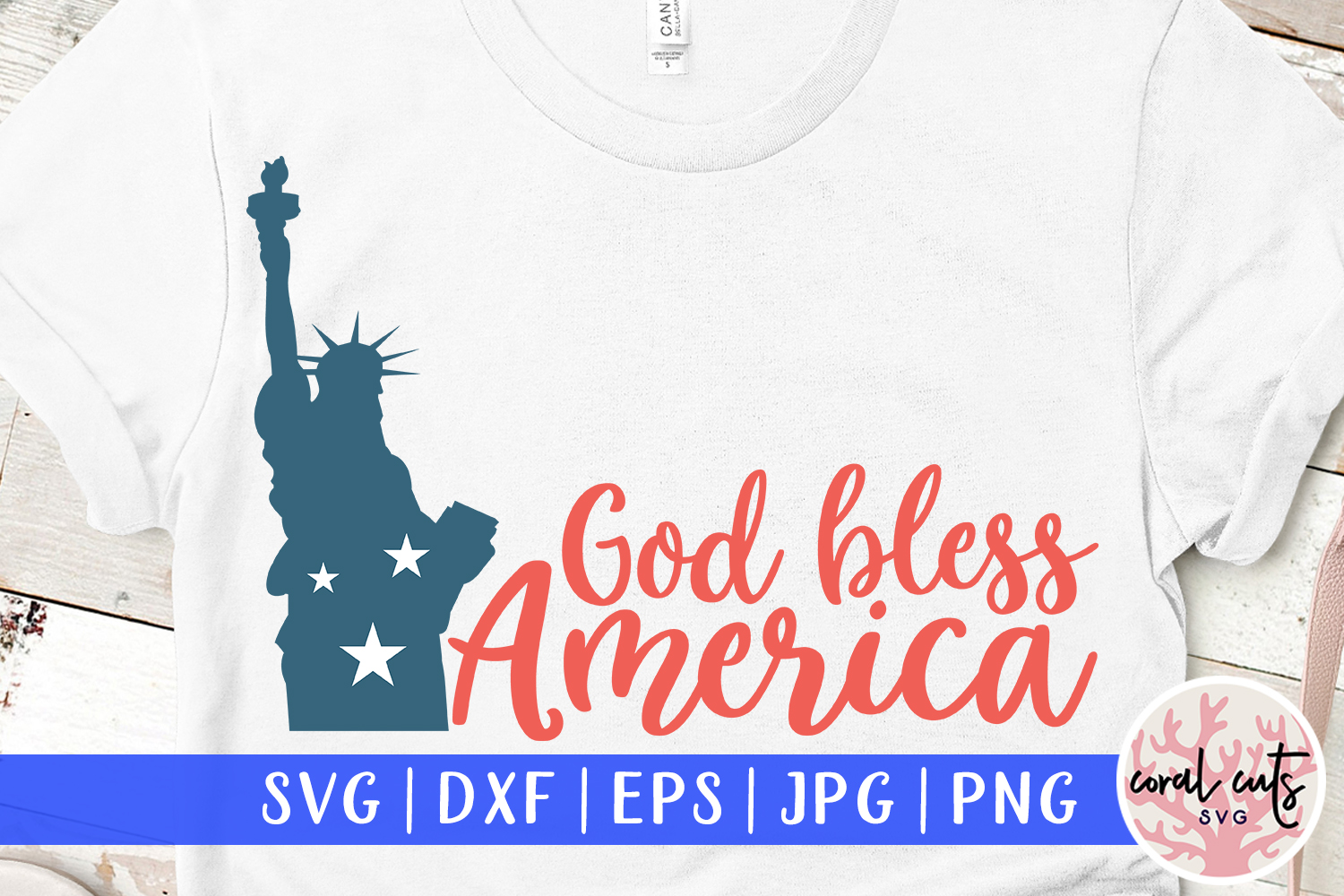 Download Free God Bless America Graphic By Coralcutssvg Creative Fabrica for Cricut Explore, Silhouette and other cutting machines.