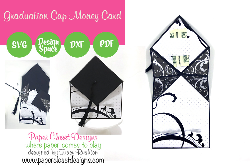 Download Free Graduation Cap Money Card Graphic By Rushton Tracy Creative for Cricut Explore, Silhouette and other cutting machines.
