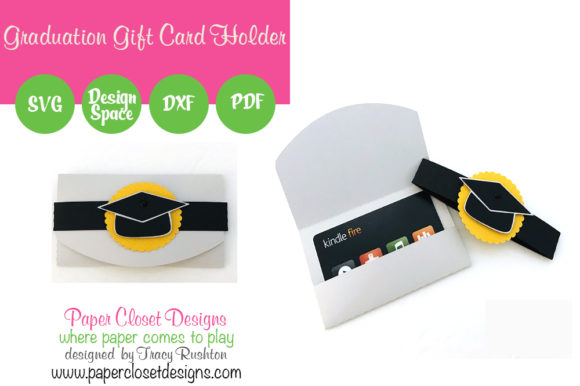 Download Free Graduation Gift Card Holder Graphic By Rushton Tracy Creative for Cricut Explore, Silhouette and other cutting machines.