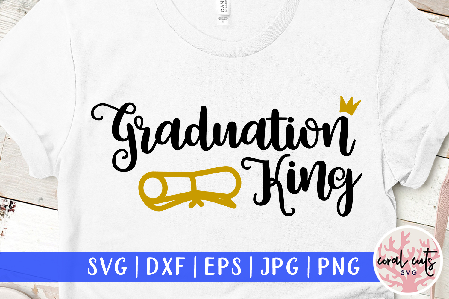 Download Free Graduation King Graphic By Coralcutssvg Creative Fabrica for Cricut Explore, Silhouette and other cutting machines.