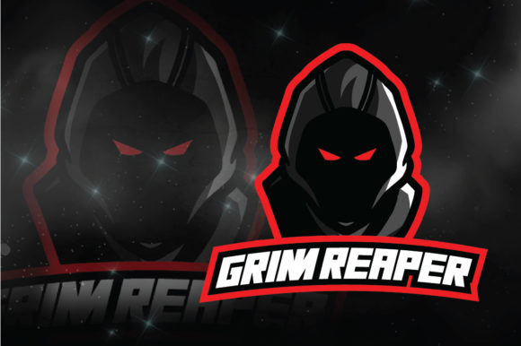 Download Free Grim Reaper E Sport Logo Graphic By Remarena Creative Fabrica for Cricut Explore, Silhouette and other cutting machines.
