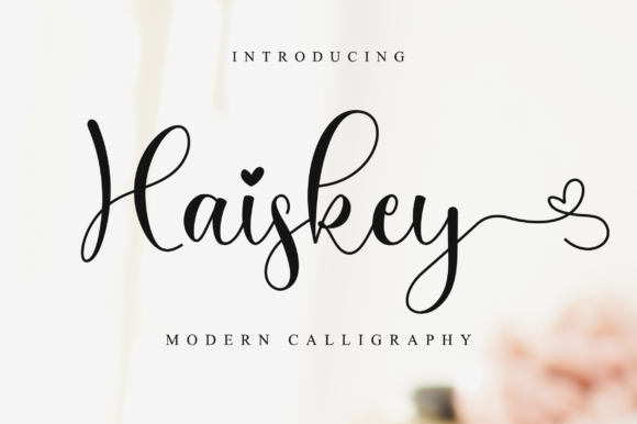 Print on Demand: Haiskey Script & Handwritten Font By NissaStudio