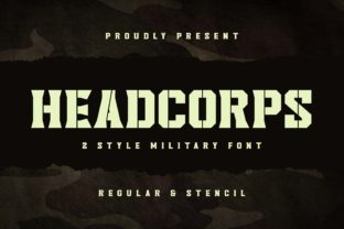 Print on Demand: Headcorps Display Font By almarkhatype