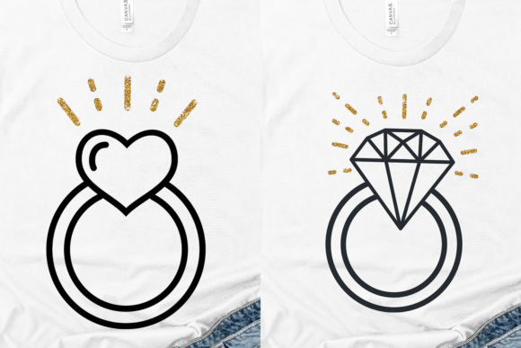 Download Free Heart Engagement Ring Graphic By Coralcutssvg Creative Fabrica for Cricut Explore, Silhouette and other cutting machines.