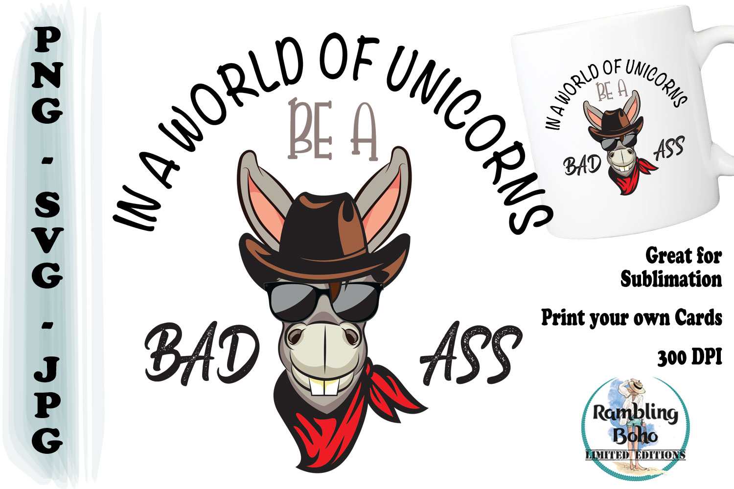 Download Free In A World Of Unicorns Graphic By Ramblingboho Creative Fabrica for Cricut Explore, Silhouette and other cutting machines.