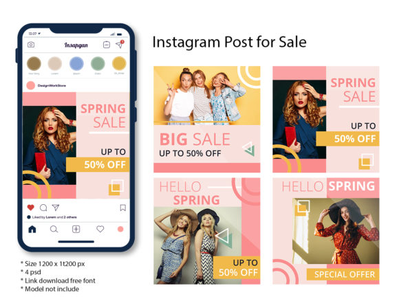 Instagram Post - Sale Graphic Graphic Templates By Skull and Rose