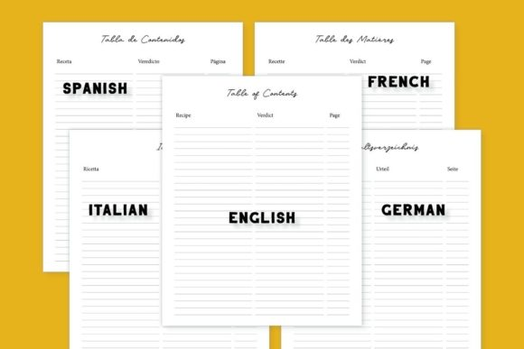 Download Free Kdp Recipe Notebooks In 5 Languages Graphic By Income Plum SVG Cut Files