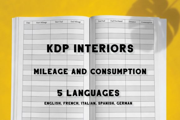 Print on Demand: KDP Vehicle Mileage and Consumption Log Graphic KDP Interiors By Income Plum