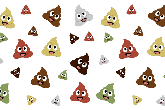 Kawaii Poops Background Graphic By Shawlin Creative Fabrica