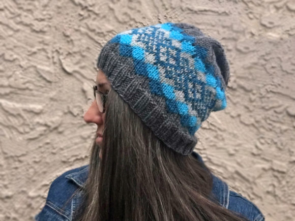 Knit Waves of Plaid Beanie Pattern Graphic Item