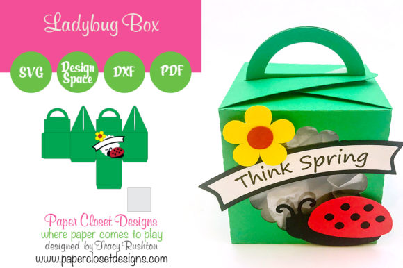 Print on Demand: Ladybug Box Grafik 3D Schattenbox von rushton_tracy