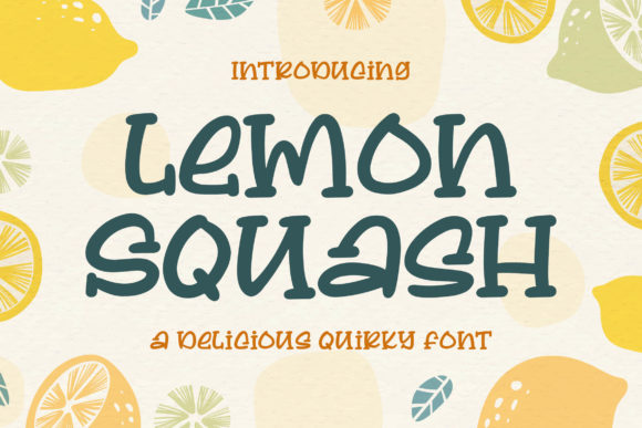 Print on Demand: Lemon Squash Display Font By Blankids Studio