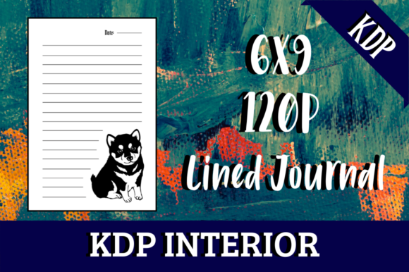 Print on Demand: Lined Journal with Puppy | KDP Interior Graphic KDP Interiors By Hungry Puppy Studio
